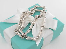 Tiffany & Co Silver Nature Bamboo Link Necklace Box Included