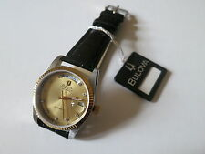 Authentic Vintage Bulova Super Seville Day Date Diamond Automatic Watch ETA 2834
