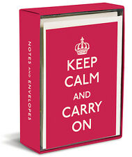 Keep Calm and Carry On 20 Boxed Thank You Cards by Graphique de France