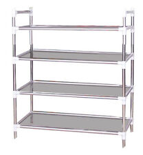 Shoe Rack Organizer with 4 Tier Layers Stainless Steel New #031-694
