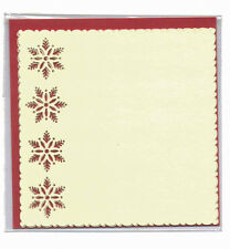 Luxury Card Layer Punch Cards, set of 3, Square Cream, Snowflake, Border BPM5713