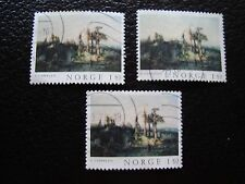 NORVEGE - timbre yvert et tellier n° 710 x3 obl (A30) stamp norway (Z)