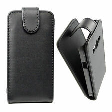 Flip PU Leather Phone Skin Cover Pouch Black Case For Samsung Galaxy Xcover 3 G3