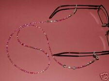 Pretty & Pink Spectacle/Glasses Chain Freshwater Pearl with Heart Accents