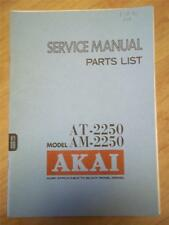 Akai Service Manual/Parts List~AT-2250 Tuner/AM-2250 Amplifier~Original~Repair