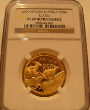 South Africa 2007 Natura Gold 1/2 oz 50 Rand NGC PF-69UC Eland
