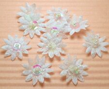 "60 Cute 3/4"" Sequin Beaded Lace Daisy Flower Appliques"