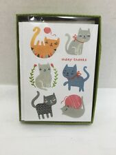 Thank You Cards Madison Park Greetings Cats Kittens10 Notecards & Envelopes