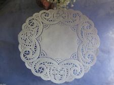 "7.5"" inch WHITE PAPER BUDS BERRIES ROUND LACE DOILIES 25 PCS DIYS WRAP WEDDING"