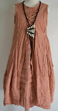 STUNNING GERMAN  CHAMPAGNE LAGENLOOK amazing parachute dress sz L/XL apricot