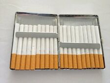 Cigarette Case 100's Regular Size Slim Storage Holder 20 Cigaret Pocket Wallet