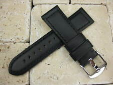 New 24mm BLACK Genuine CALF Leather Strap Watch Band PANERAI PAM 44mm case