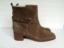 J Crew Parker Shearling- Lined Suede Ankle Boots Size10 Mink Rtl$328