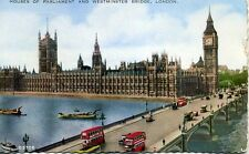 London Transport STL  Bus Westminster Bridge 1936 postcard