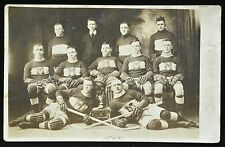 RPPC 1922-23 MONTMAGNY AMATEUR HOCKEY TEAM - Montreal QUEBEC -with CHAMPIONS CUP
