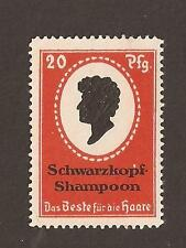 L'Allemagne Cendrillon. Schwarzkopf Shampooing STAMP (Comme neuf no gum) RARE
