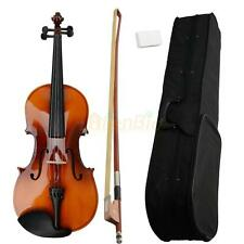 "New 16"" Full Professional Adult Maple Acoustic Viola + Case + Bow + Rosin Brown"
