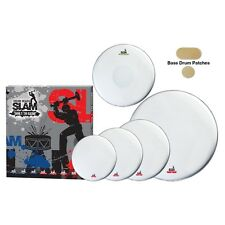 New Slam Single Ply Smooth Coated Thin Weight Drum Head Pack for Drum Kit