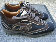 Magnificent & Exquisite Stefano Branchini Brown Suede Sports Shoe-ITALY-Size 8.5
