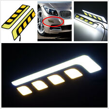 2 x Universal Car LED COB Turn Signal Indicators Y/W Light DRL Fog Light Lamp