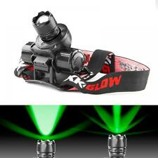 Head Lamp Adjustable Lens GREEN 3D OpticLED CREE LG Lithium Battery Light Weight