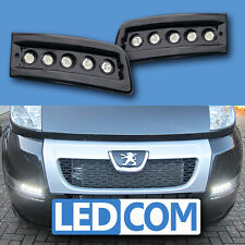 Daytime Running Lights DRL LED Pod Kit Fiat Ducato Boxer Relay Motorhome Black