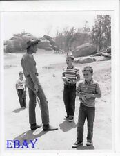 Chuck Connors barechested w/sons VINTAGE Photo