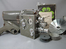 NIZO HELIOMATIC GERMAN 8MM MOVIE CAMERA + LENSES COLLECTOR'S CAMERA