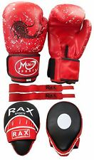 Curved Focus Pads With Boxing Gloves Hook and Jab Punch Bag Kick MMA Hand wraps