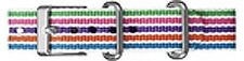 NEW-TIMEX 16MM WEEKENDER MULTI COLOR STRIPE NYLON REPLACEMENT BAND,STRAP T7B927