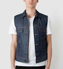 LEE KRIS VAN ASSCHE SLEEVELESS RAW DENIM JACKET VEST - NWT - 48 M