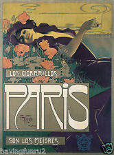 1900 Paris Cuban tobacco from Argentina for Spain Poster  11 x 14 Giclee print