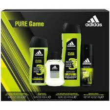 ADIDAS Pure Game Gift Set Bag Deodorant Natural Spray Cologne Shower Gel