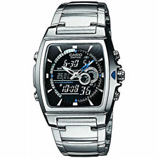 Mens Casio Edifice EFA120D-1A Stainless Steel Thermometer Chronograph Watch