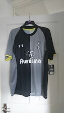 Tottenham Hotspur Spurs Black & Grey 2012/2013 3rd Shirt Jersey XL - Brand New!