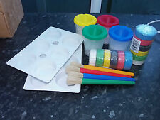 Grandes Pinceles Pinturas Pincel Y Agua Bote Paletas Arte Kit Escolar Craft Kids Club