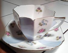 shelley queen anne pansy forget me not tea cup and saucer