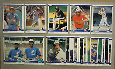 1984 Fleer Montreal Expos Team Set with Update, without Pete Rose 30 Cards