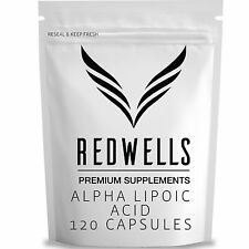 120 Alpha Lipoic Acid Capsules - 300mg Per Serving - Quality Guaranteed ALA
