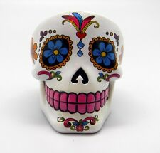 White Sugar Skull Mexican Day of the Dead Dia de Los Muertos Ashtray