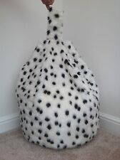 FAUX FUR LARGE SIZE NEW LUXURIOUS ADULTS DALMATION BEAN BAG / BEANIE COVER ONLY
