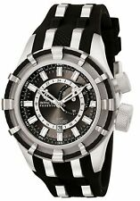 New Men's Invicta 6435 Bolt Reserve Swiss GMT Grey Dial Black Rubber Watch