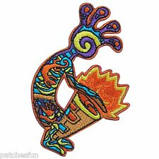 Colorful Rasta Reggae Drum Tom-Tom Jovial Hippie Peace Gecko Iron on Patch #1464