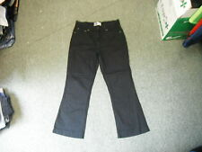"Levi's At Waist Bootcut Jeans Misses 10 Short Leg 26"" Black Faded Ladies Jeans"