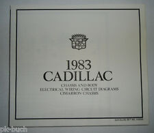 Elektrischer Schaltplan / Wiring Diagram Cadillac Cimarron Chassis Stand 1983