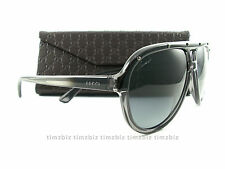 New Gucci Sunglasses GG 3720/S HXTHD Gray Black Aviator Authentic