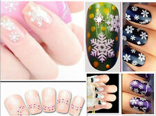 Lucky Snowflakes Flower Bow 3D Nail Art Stickers Decals Fingernail Accessaries