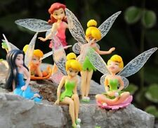 6 TINKERBELL FAIRIES SECRET OF THE WINGS ACTION FIGURE CAKE TOPPER FIGURINES TOY