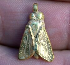Beautiful Very Old Antique 23 Karat 23K Solid Yellow Gold Moth Insect Pendant