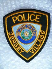 Patch- Jersey Village State of Texas US Police Patch (NEW* )